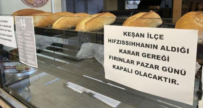 Keşan'da fırınlar pazar günü kapalı olacak: 'Adam eline iki ekmek alıyor, tüm ilçeyi geziyor'