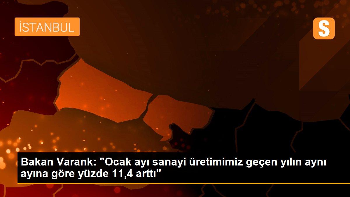 """Bakan Varank: """"Ocak ayı sanayi üretimimiz geçen yılın aynı ayına göre yüzde 11,4 arttı"""""""